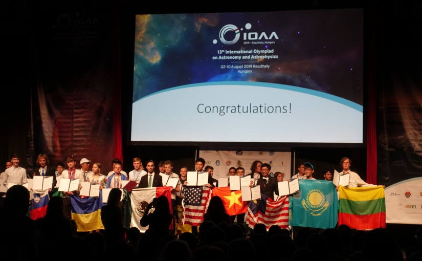 Announcing the 2020 USA Astronomy and AstrophysicsTeam!